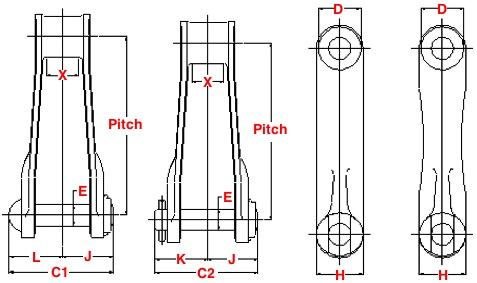 700-Class Pintle Chains Diagram