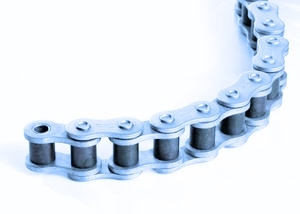 pitch 2.250 in 10 foot box Peer # 180-3 Rivited Triple Strand Roller Chain