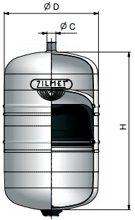 Zilmet ZSP400 105.7 gal Solar Plus Tank with 1 NPT